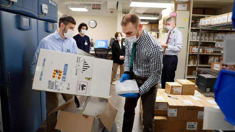 According to LMC, the vaccine doses arrived in a box packed with dry ice that included GPS...