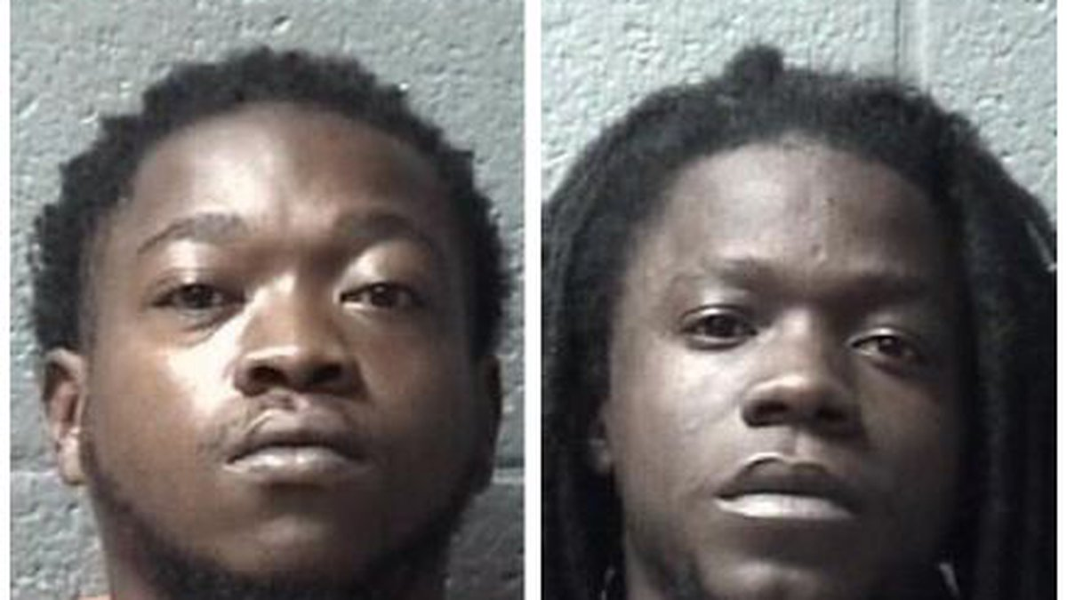 Dante Huggins (left) and Kendall Goodwin (right) are each charged with attempted murder, armed...