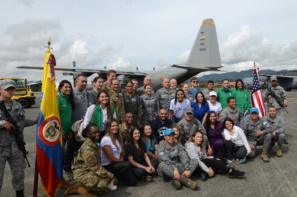 Doctors and med techs from the South Carolina Air National Guard's 169th Medical Group plus...