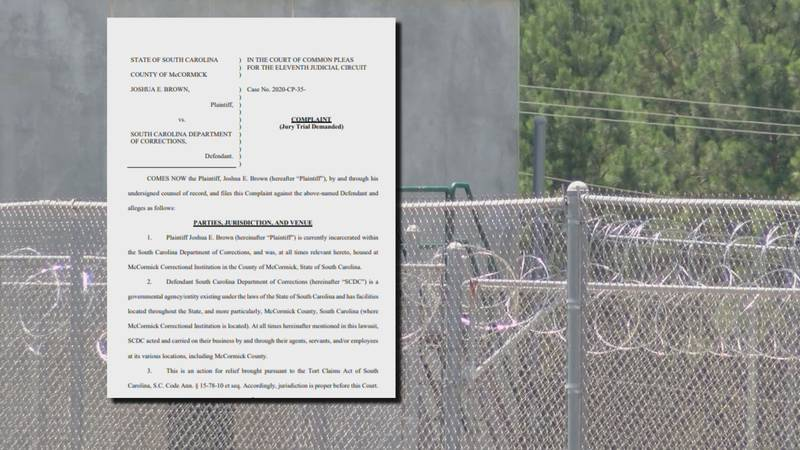 A lawsuit against the South Carolina Department of Corrections alleges an inmate attacked...