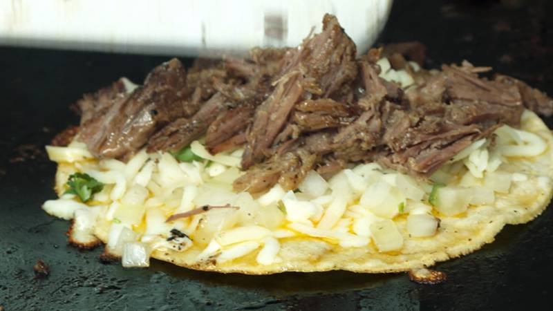 The birria taco is fantastic with slow cooked meat, the perfect amount of melted cheese.