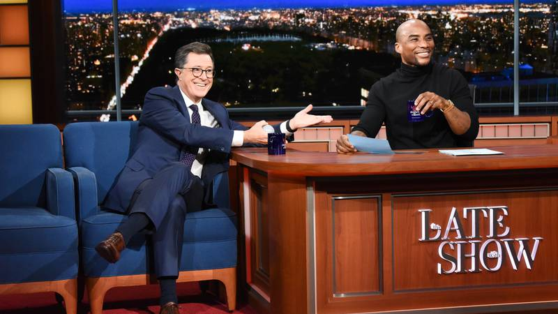 The Late Show with Stephen Colbert and guest  Charlamagne Tha God during Tuesday's November 27,...