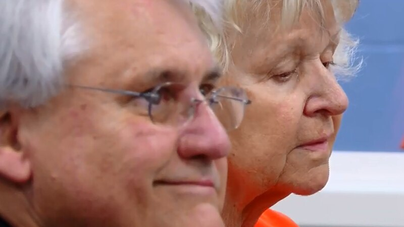 Irene Clodfelter, right, appears for a bond hearing in Horry County Tuesday.
