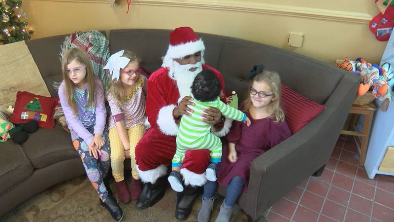 Cookies with Black Santa in Five Points