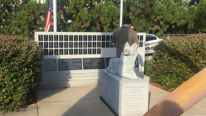 Columbia's 9/11 Wall of Remembrance was unveiled during the 9/11 Morning of Remembrance...