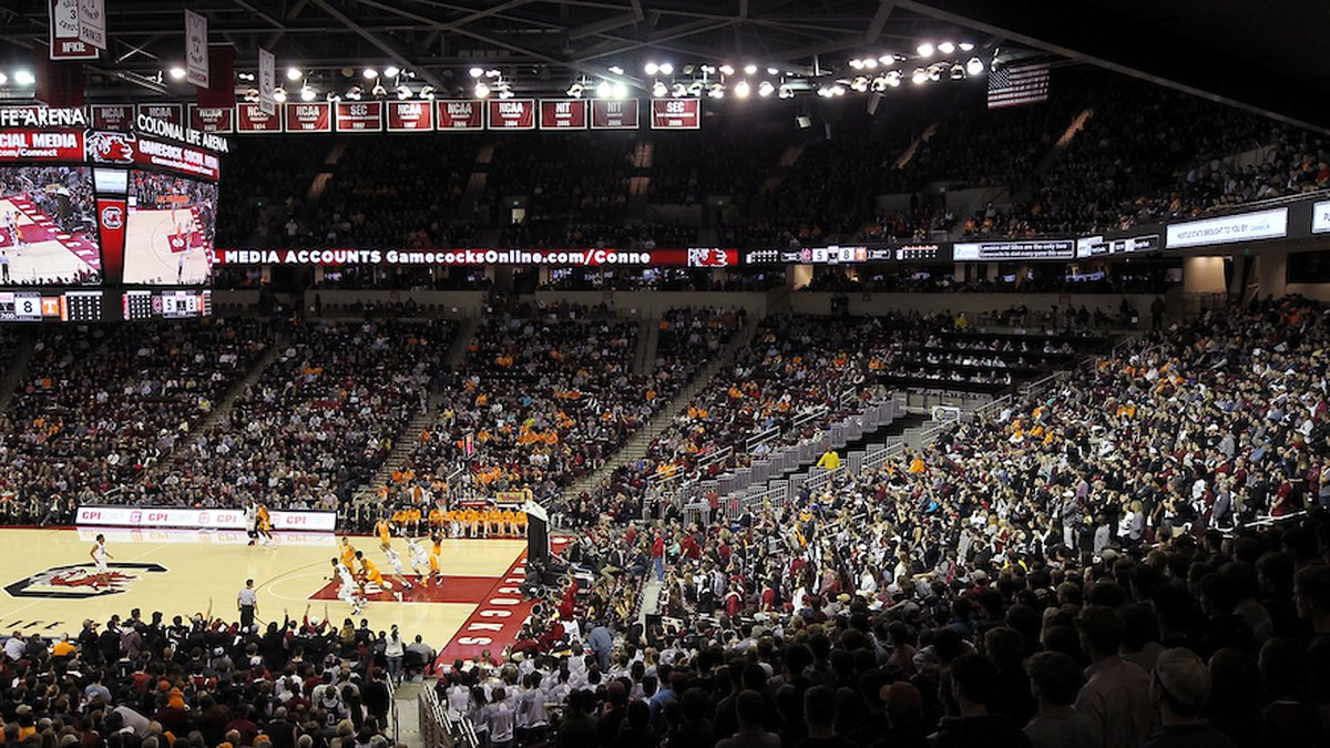 Colonial Life Arena is seen during first-half action of the Tennessee game in Columbia, S.C. on...