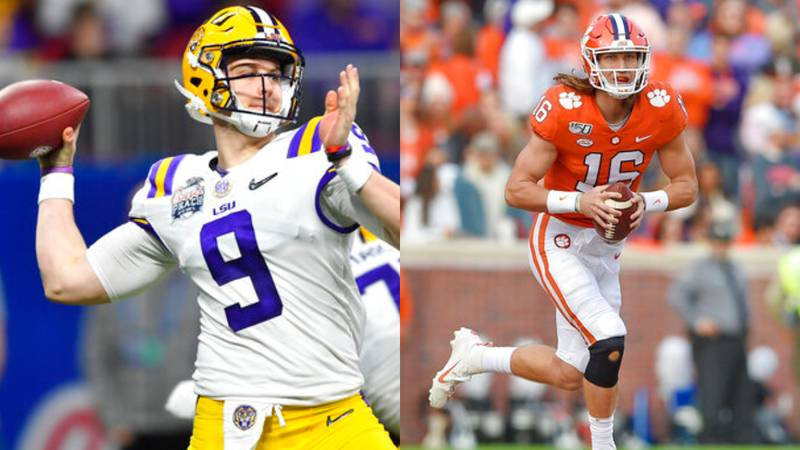 Joe Burrow (left) and Trevor Lawrence each have led their team to the national title game with...