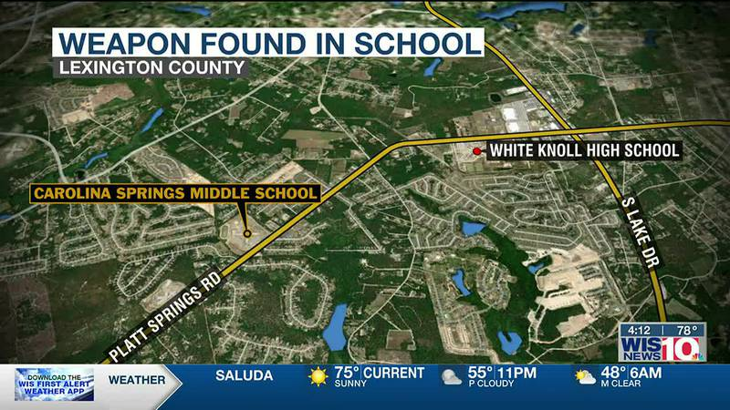Weapon found in student's bag at Lexington One middle school