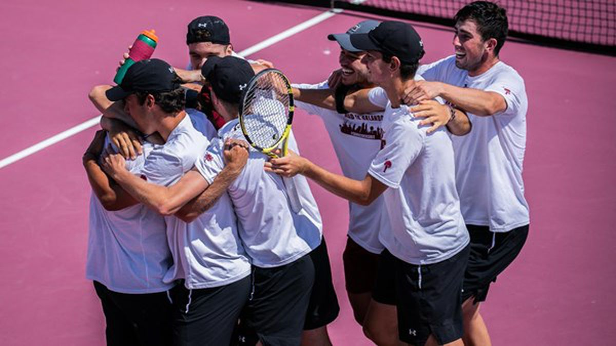 Eight of the nine doubles and singles matches were hotly contested with the Gamecocks...