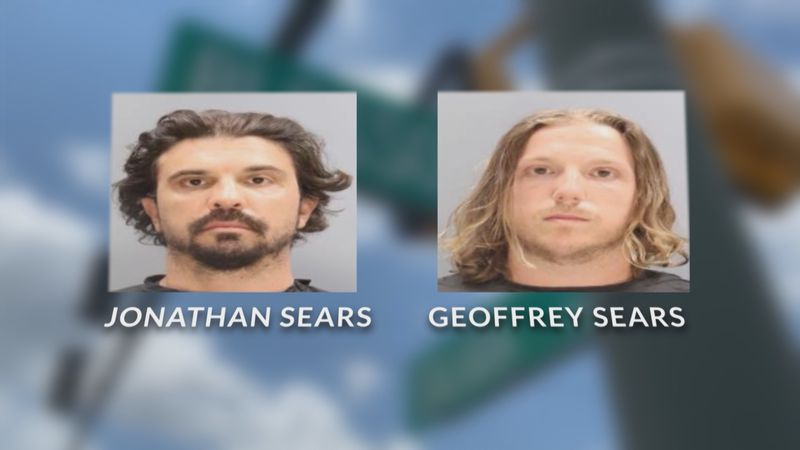Jonathan Sears and his brother, Geoffrey, both face drug charges.