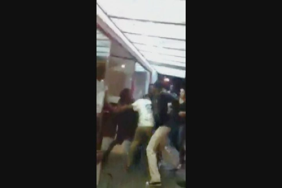 A still frame taken from video posted on Facebook of one of the assaults.