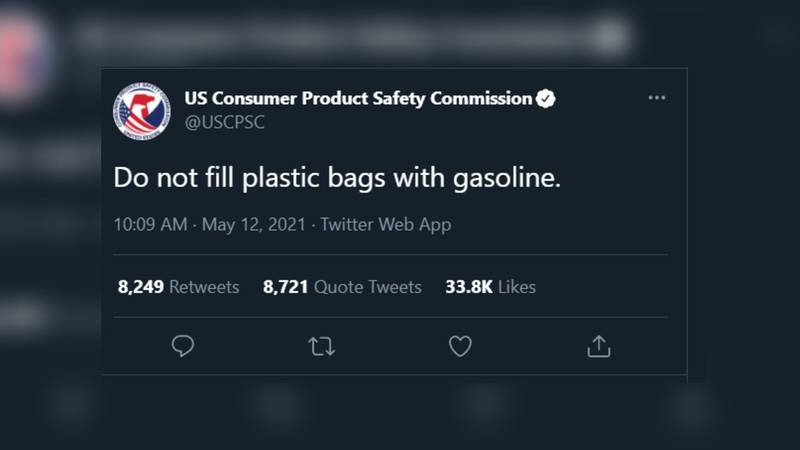 The seven-word tweet comes as panic buying of gasoline has swept the southeast amid a temporary...