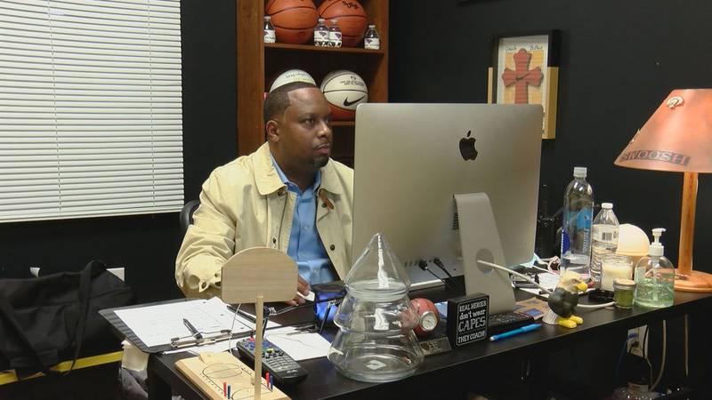 Through a partnership with Allen University, Gray Collegiate head boys' basketball coach Dion...