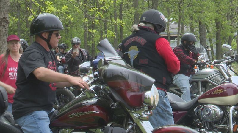 The Veterans Motorcycle Club, Chapter 11, hosted a bike blessing on Saturday