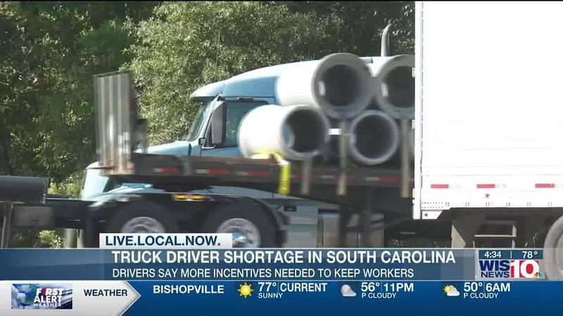 Truck driver shortage exacerbating supply chain disruptions, SC Trucking Association says