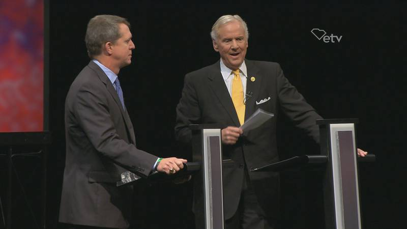 Smith (left) is challenging McMaster in the race for Governor. (Source: SCETV)