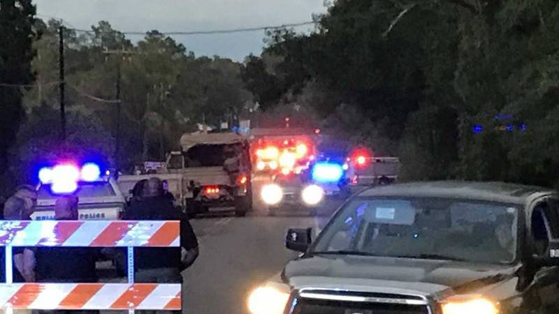 A Horry County Sheriff's Office van was swept away in flood waters resulting in two female...