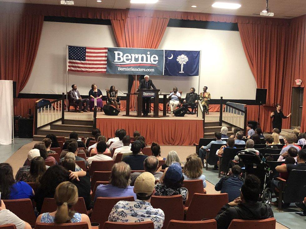 Senator Bernie Sanders made a stop in Orangeburg Saturday morning to campaign ahead of the 2020...