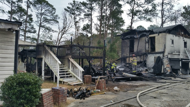 Crews responded to a fire on Booth St. Saturday.