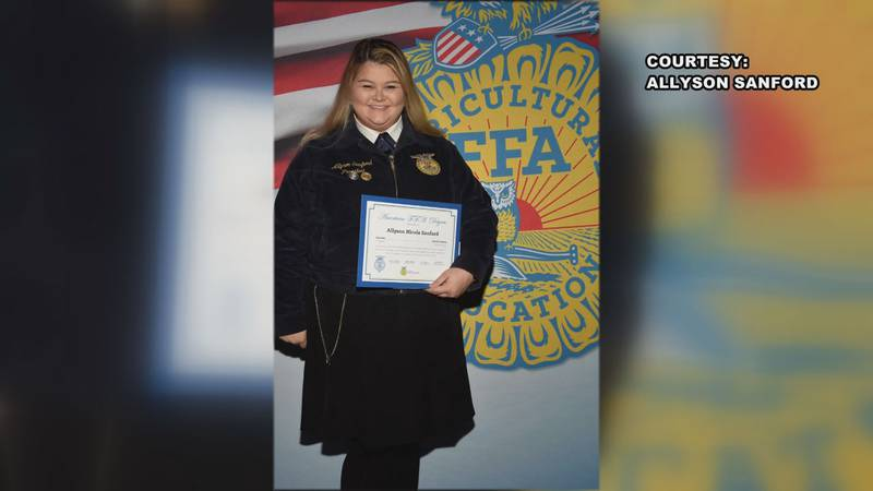 Allyson Sanford suffered a stroke when she was 18 years old.