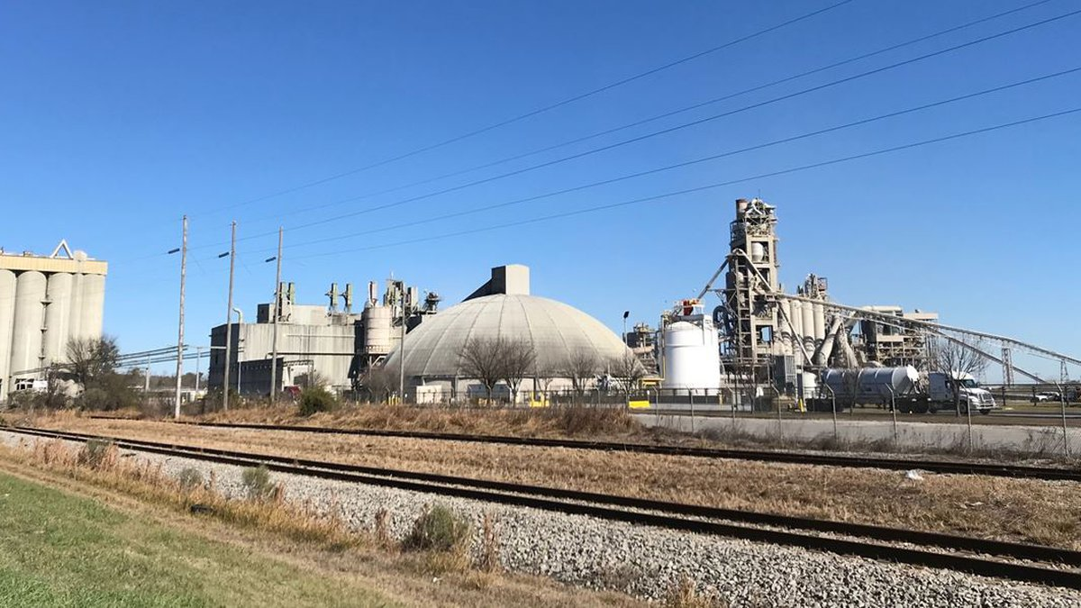 The Orangeburg area cement plant where the man died on Tuesday.
