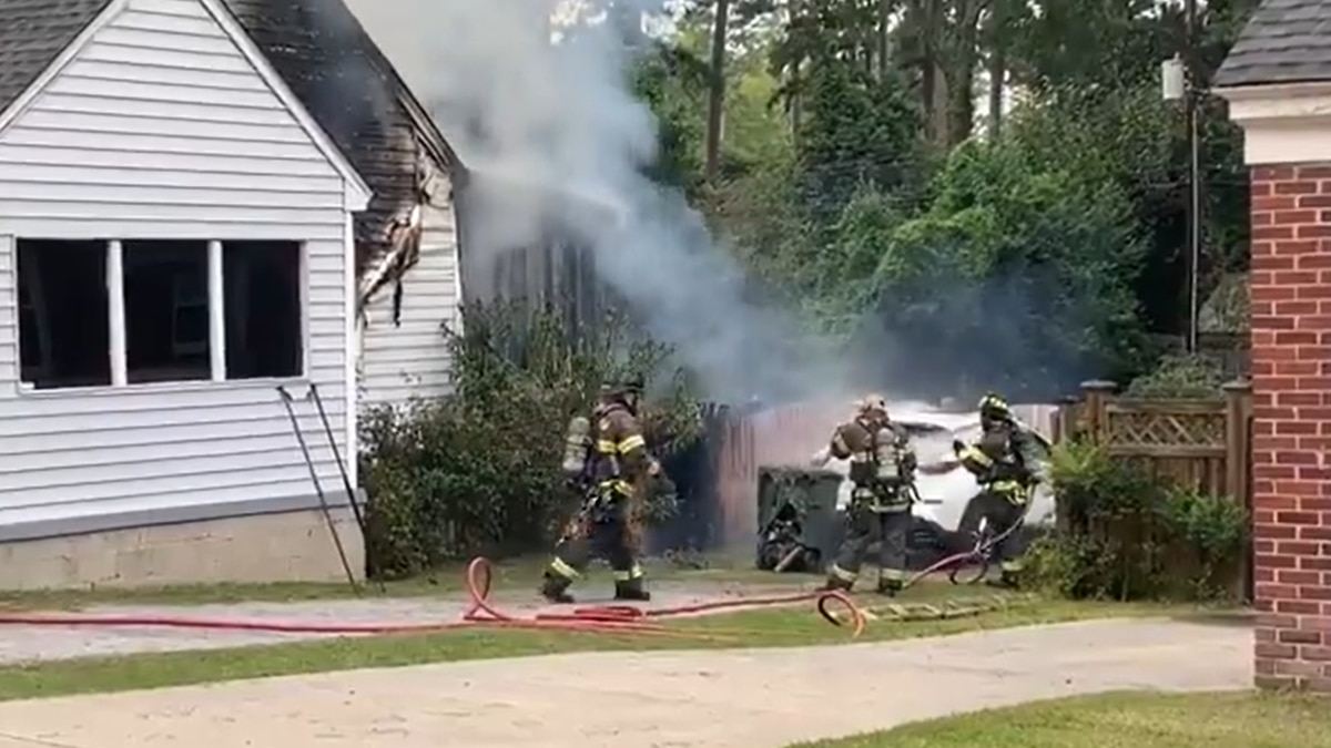 Second shift crews are on the scene of the fire on Forest Drive near Glenwood Road.