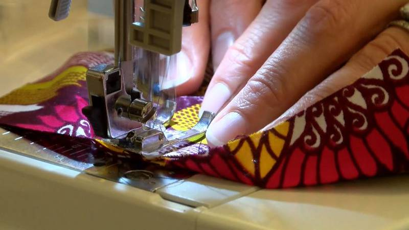 Some are sewing homemade mask covers to help protect healthcare workers from the coronavirus.