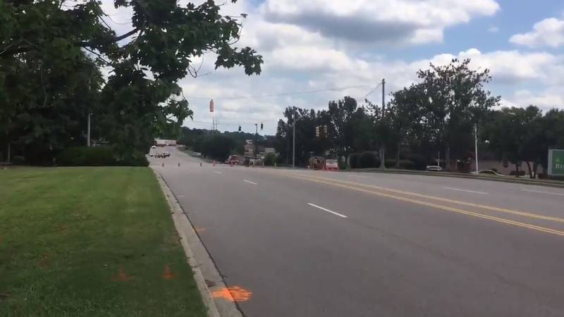 A gas leak on Columbiana Drive closed all lanes on June 26 near the Toys 'R' Us store. (Source:...