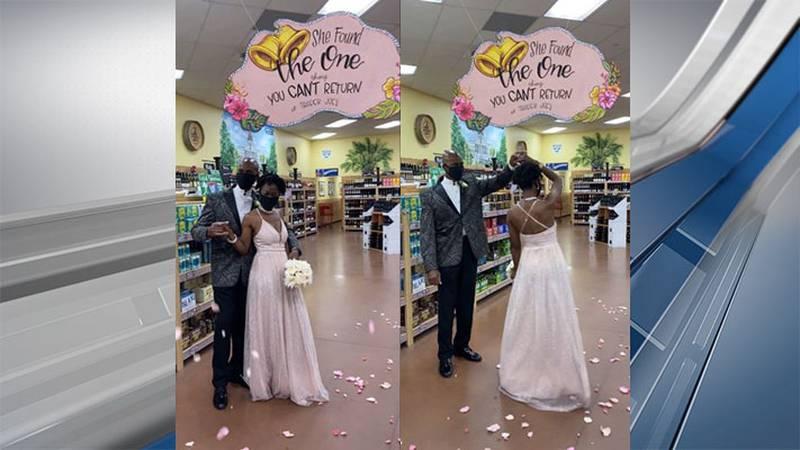S.C. couple holds wedding ceremony inside Trader Joe's