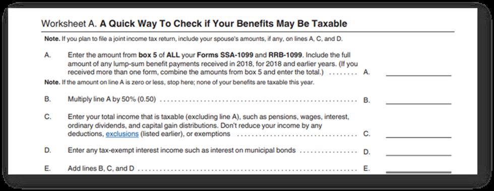 Taxable social security