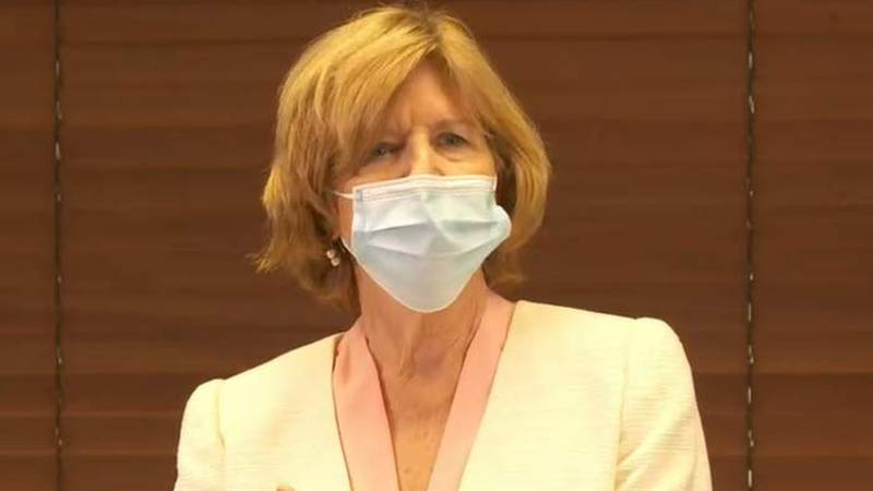 South Carolina Education Superintendent Dr. Molly Spearman urged people to take COVID-19...