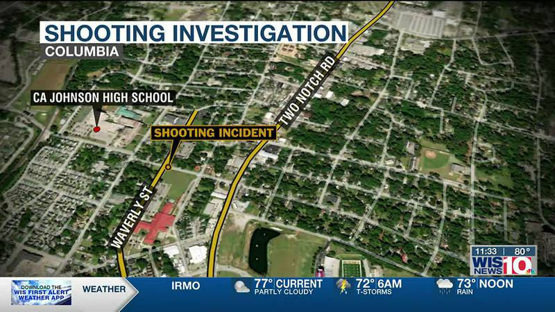 Columbia police investigating shooting on Waverly Street
