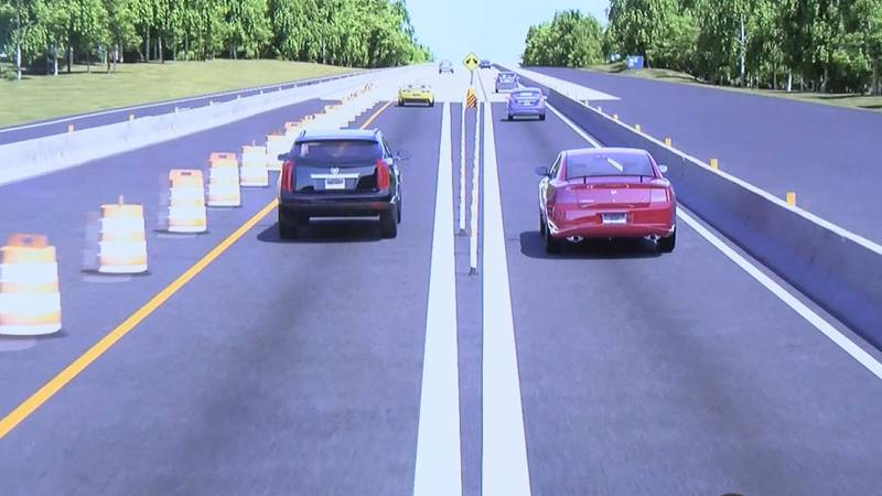 Here's a look at what lanes will look like on I-20 East from SC Highway 6 to U.S. Highway 378.