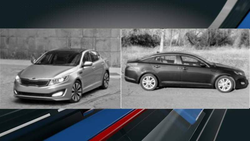 The Highway Patrol is searching for a 2011 to 2015 blue or gray Kia Optima that may have damage...