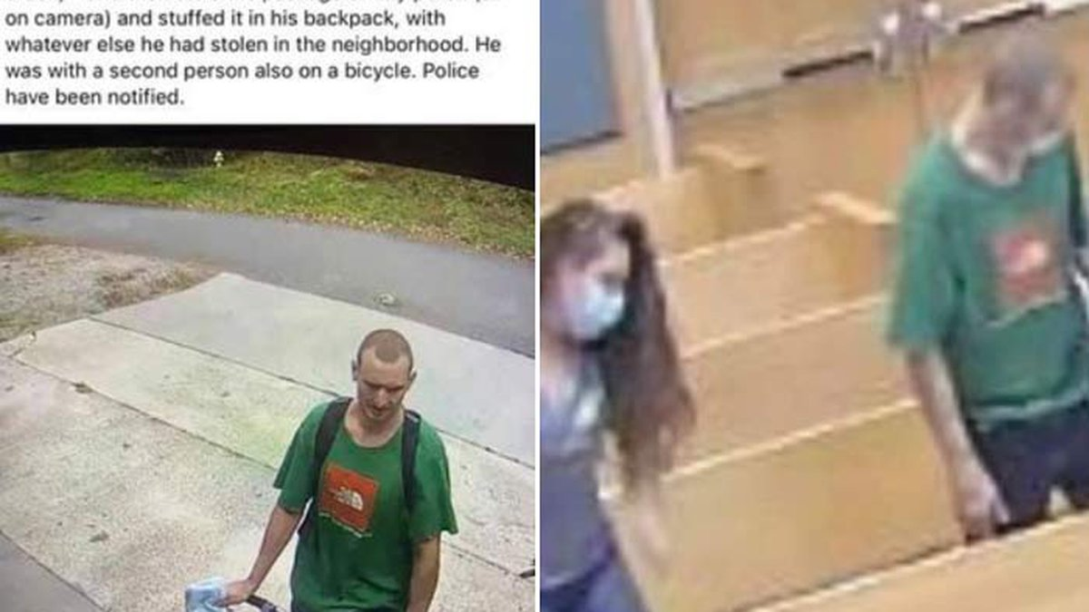 Goose Creek Police posted photos of a man accused of stealing packages from porches in a Goose...