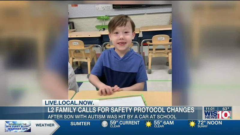 Family call for changes after son with autism struck by vehicle outside Lexington Two school