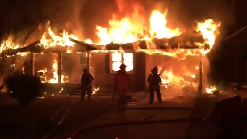 The Fairfield County Fire Service responded to a home engulfed in flames on Sunday night.
