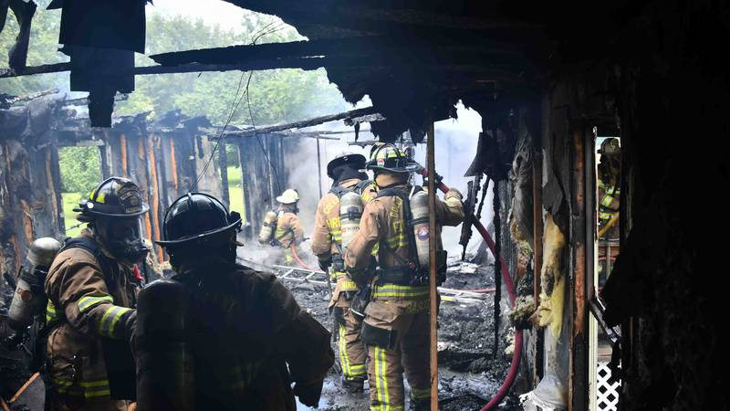 Multiple hand lines were deployed to the building and after searching the back bedroom, crews...