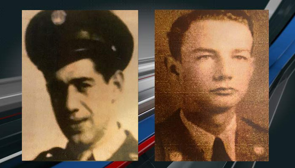 WWII Veteran Anthony Grasso, left, said he was a 20-year-old Army private in Vossenack,...