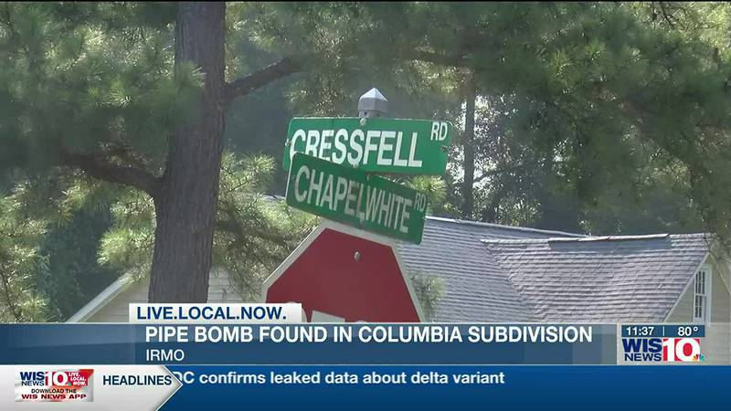 Pipe bomb found at entrance to Irmo subdivision, SLED says