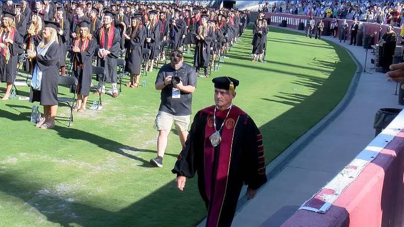 UofSC hosts in-person graduation at Williams Brice Stadium