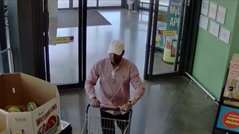 Police are looking for this man suspected of stealing a woman's credit cards at Lidle in...