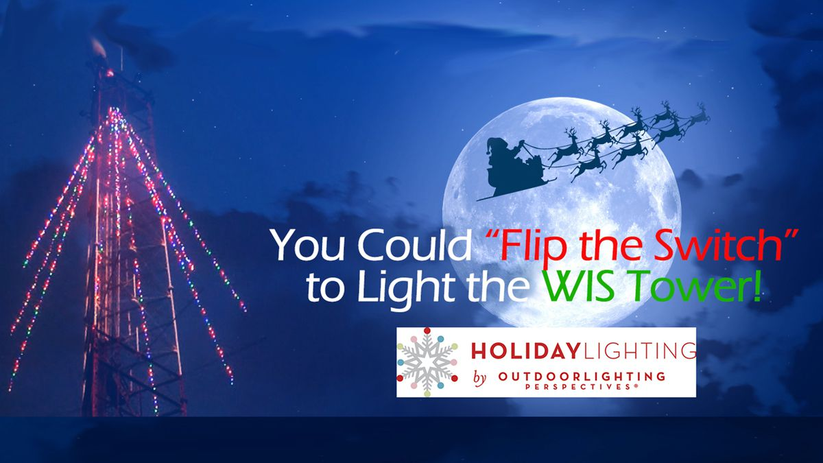 """This year WIS will let one luck viewer """"flip the switch"""" to turn on the lights and let everyone..."""