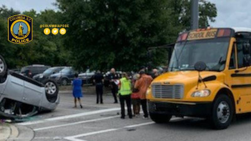 One child injured in bus collision on Two Notch Road
