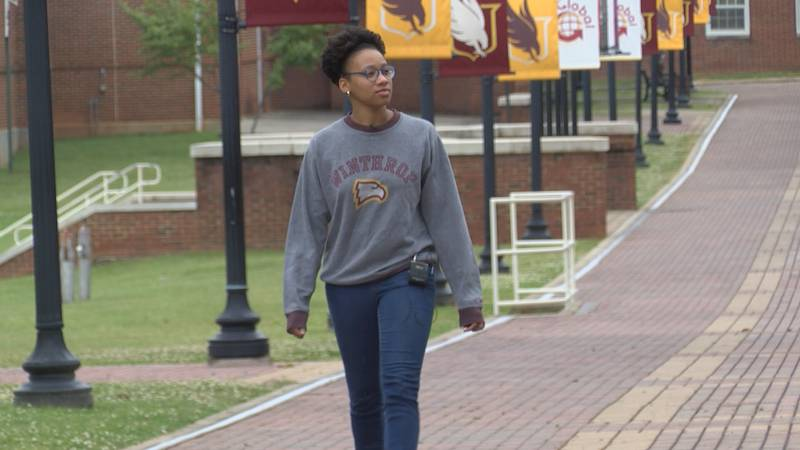 Winthrop University senior Brooke Frierson is happy the university is still trying to plan an...