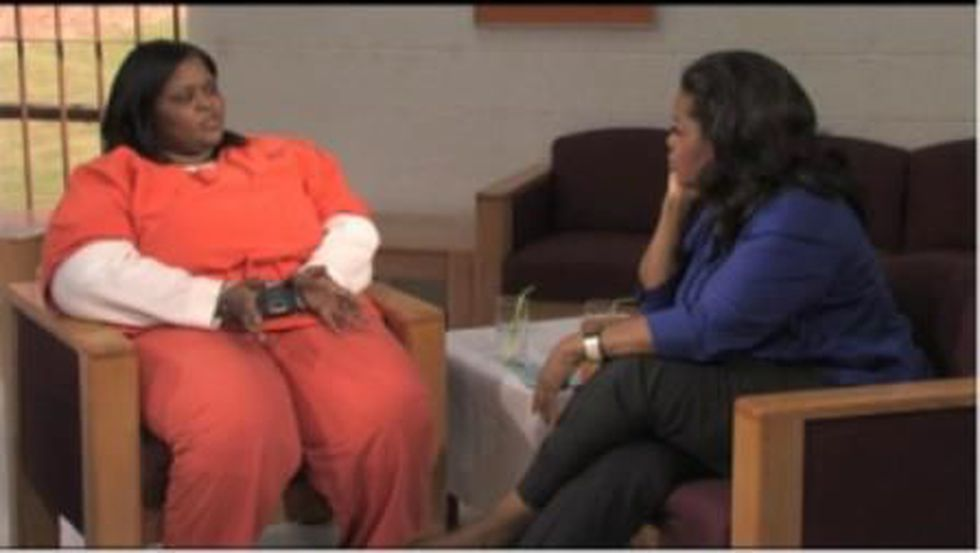 Oprah interviewing Duley (Source: Harpo Productions)