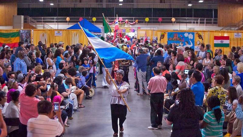 The Columbia International Festival features the Parade of Nations.