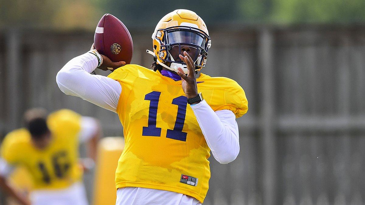 LSU quarterback TJ Finley (No. 11)