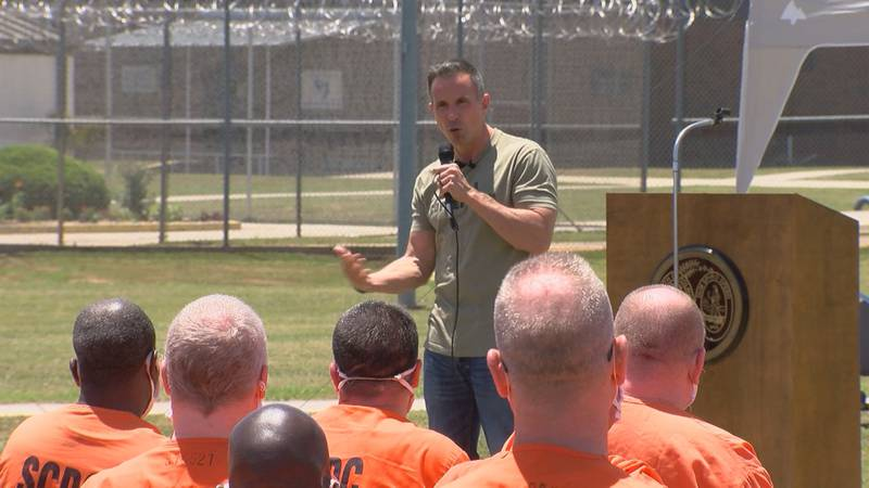 The former college football quarterback and best-selling author visited Columbia to speak to...