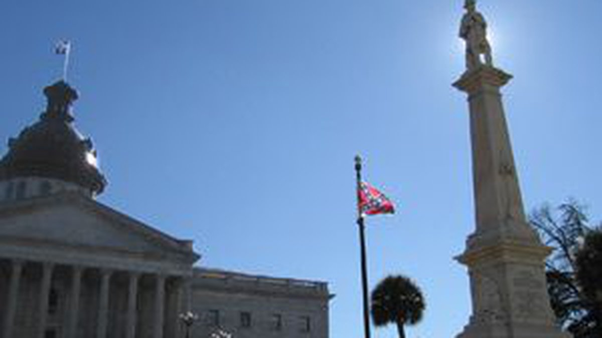 A Confederate flag flies on South Carolina State House grounds. (Source: WIS)